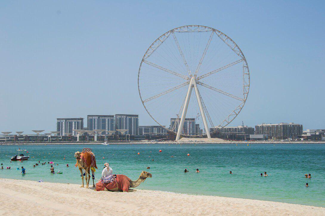 Plaża przy Dubai Marina w Dubaju