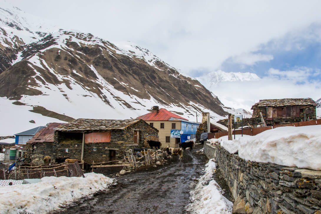 Wioska Ushguli w Swanetii (Gruzja)