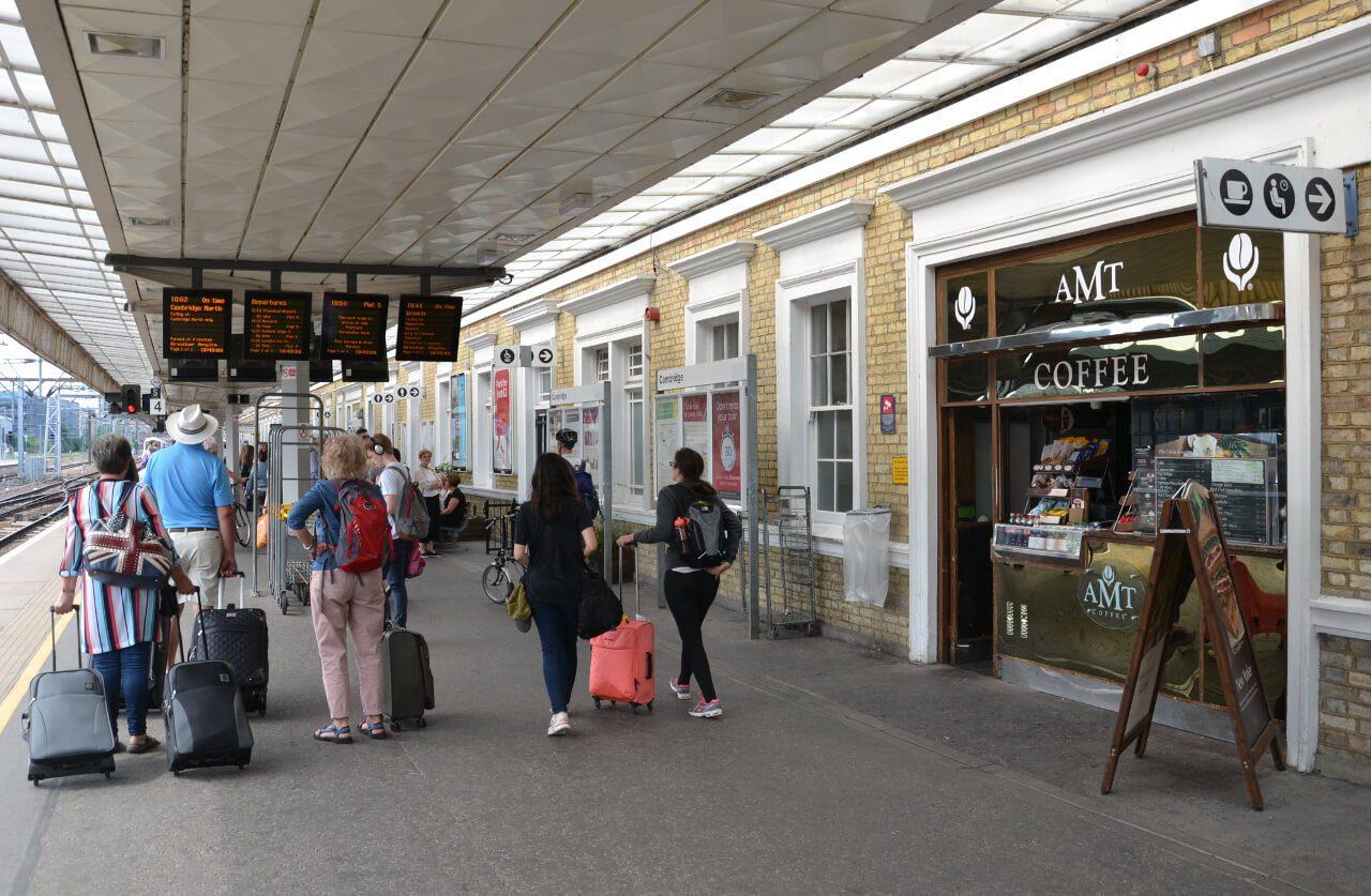 Stacja kolejowa w Cambridge
