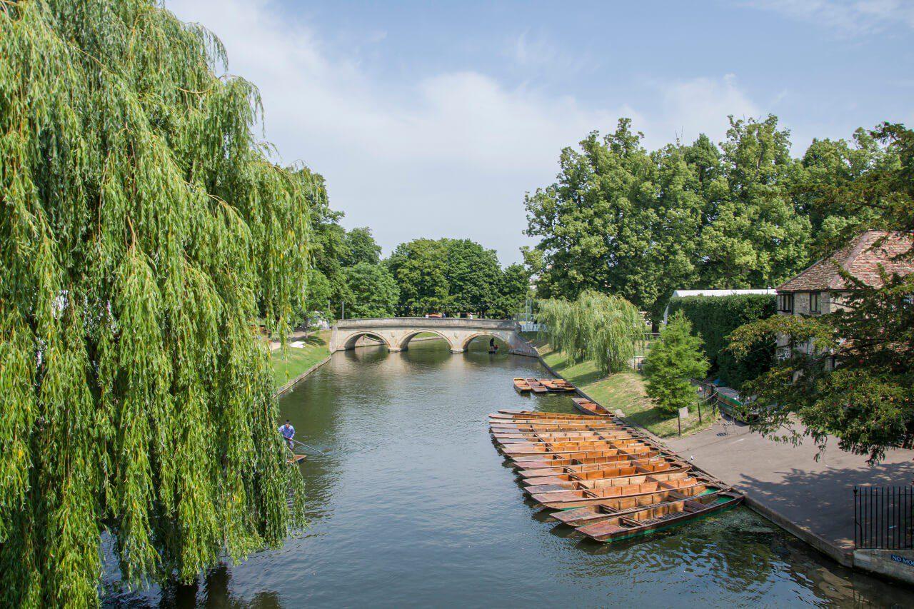 Rzeka Cam w Cambridge