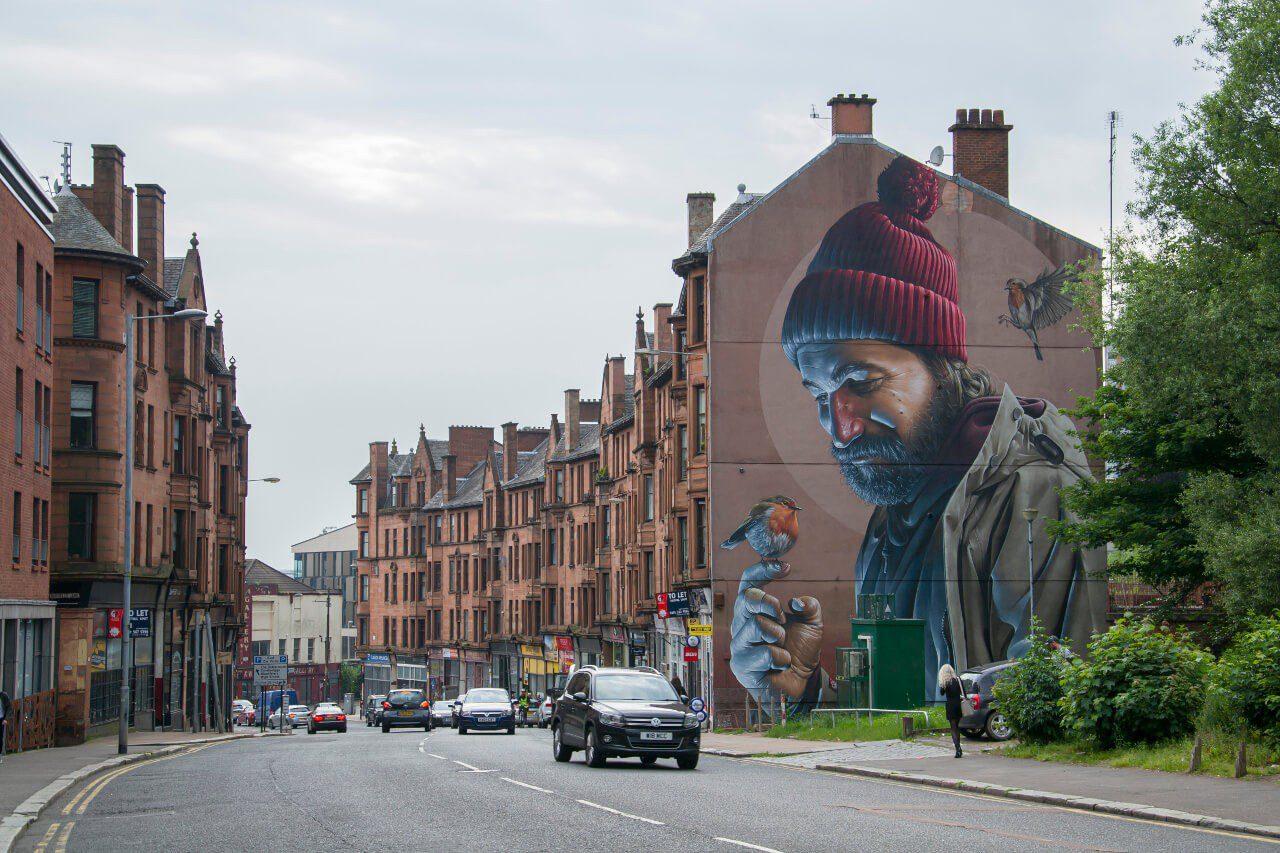 Murale na ulicach Glasgow