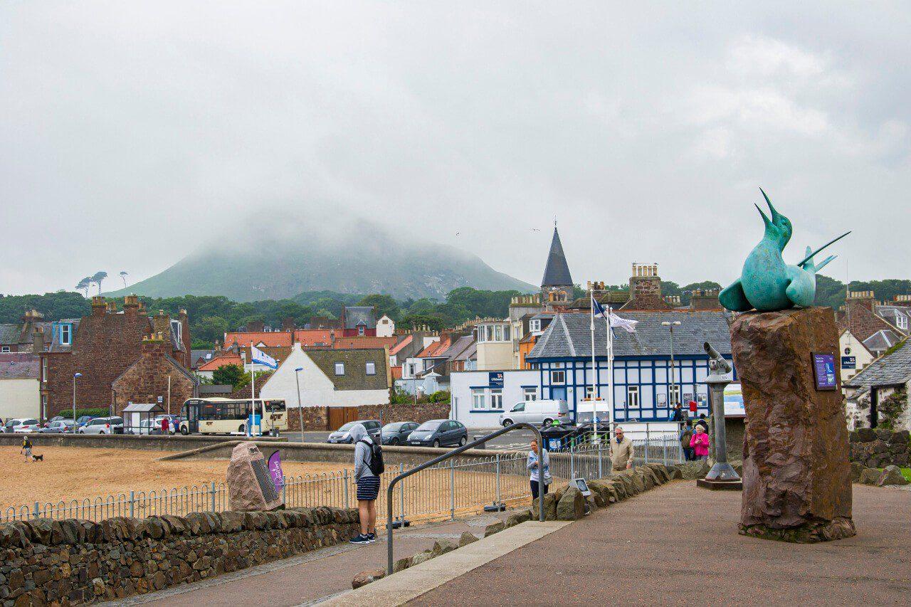 Widok z miasteczka North Berwick