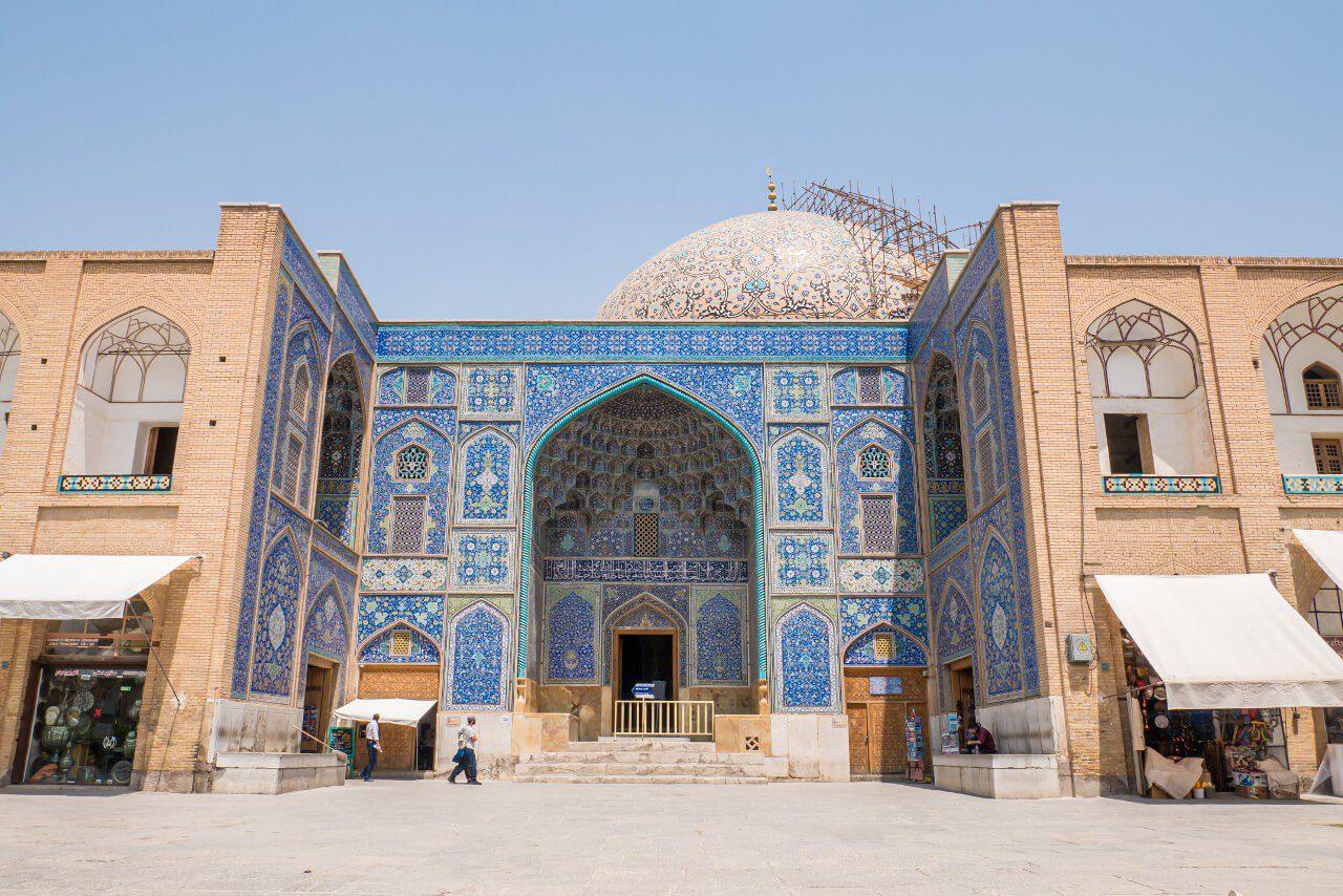Wejście do meczetu Sheikh Lotfollah w Isfahanie