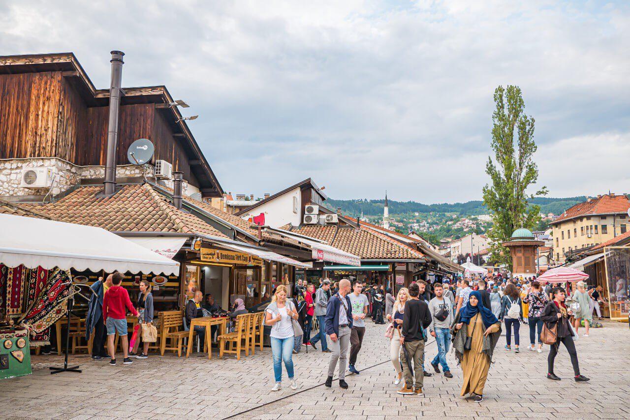 Targ Baščaršija w Sarajewie