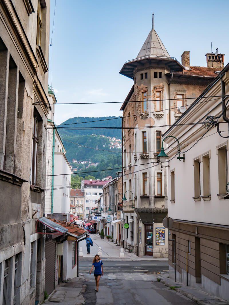 Widok na ulicę Logavina w Sarajewie