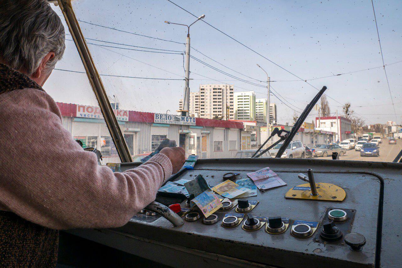 Motorniczyni w tramwaju w Charkowie