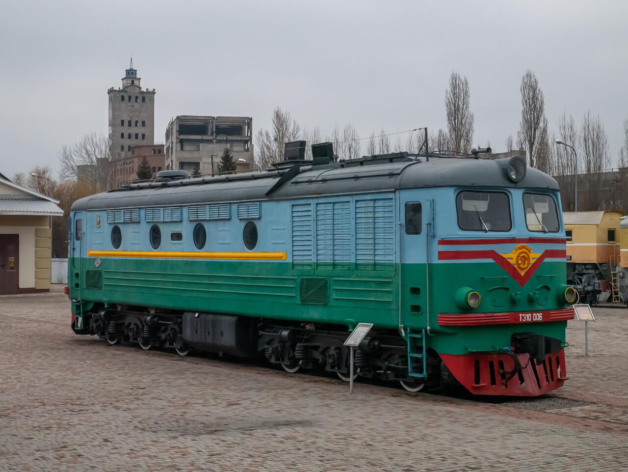 Eksponat Muzeum Historii Kolei Południowej w Charkowie