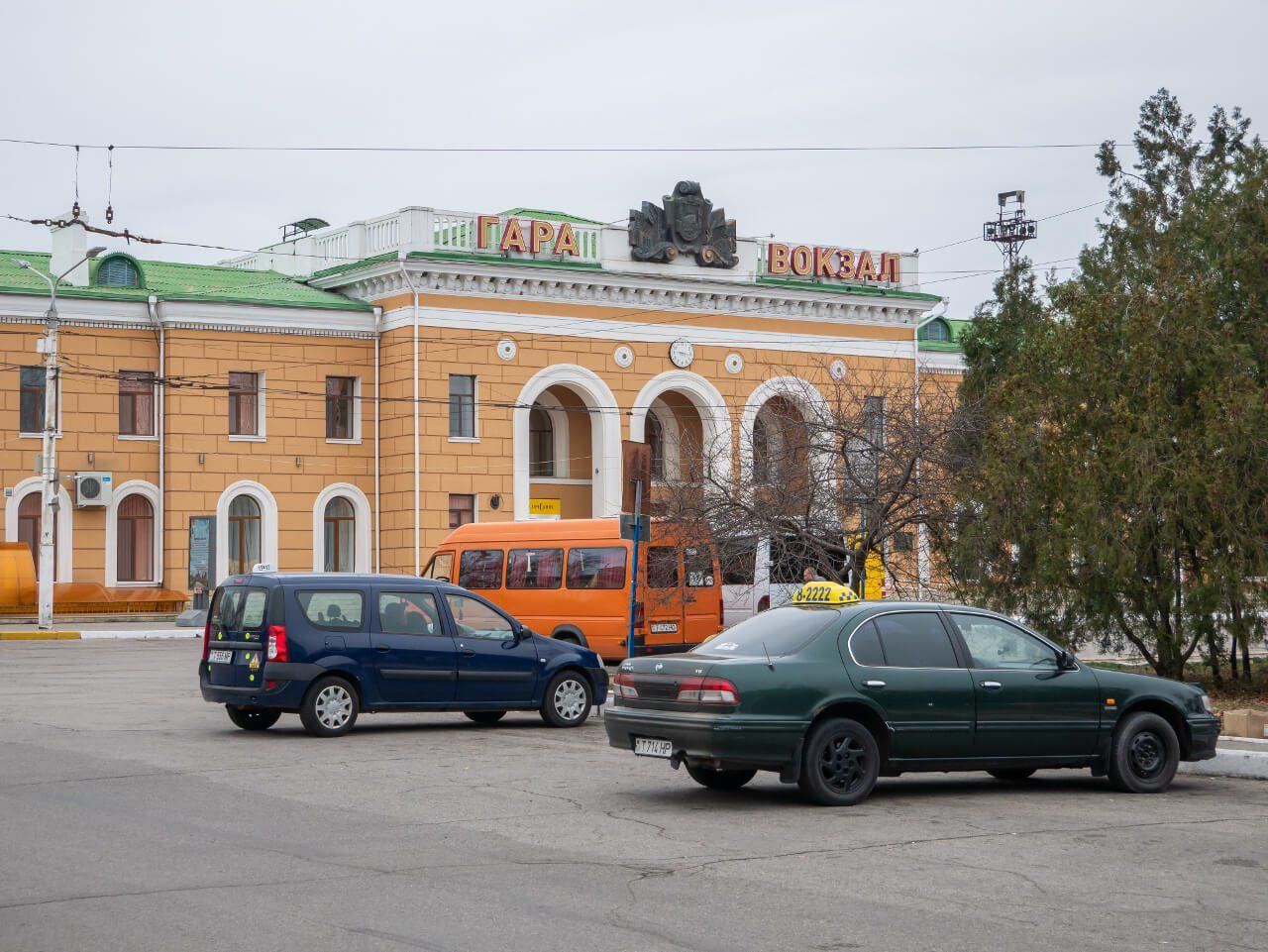 Dworzec kolejowy i autobusowy w Tyraspolu