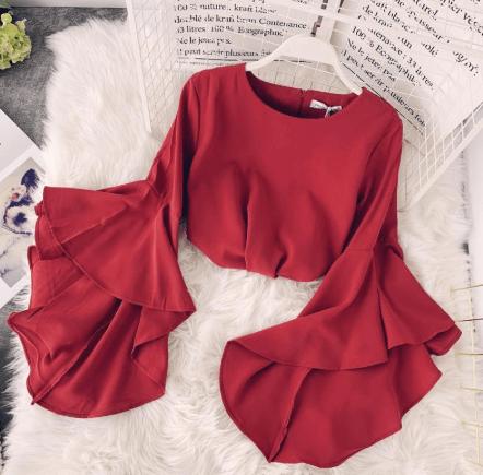 red korean dress