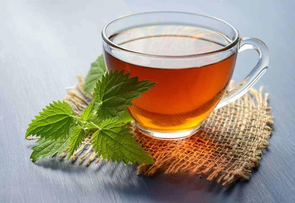 szklanka z naparem ziołowym, zioła na ograniczenie apetytu