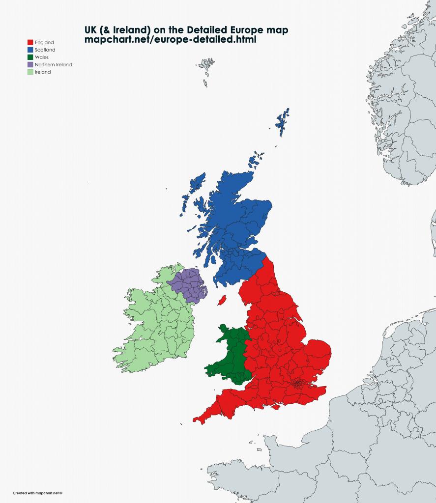 United Kingdom map showing England, Wales, Scotland and N Ireland unitary authorities