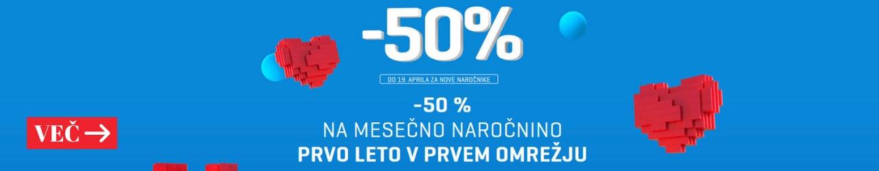 -50 % NA MESEČNO NAROČNINO prva stran