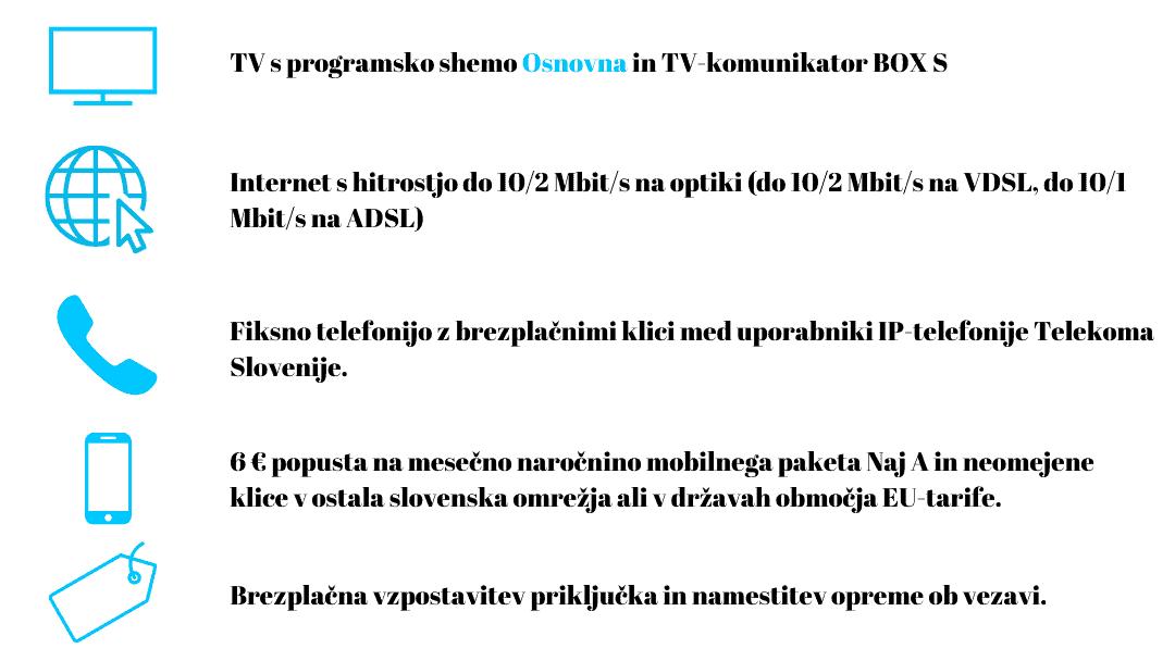Vsebina paketa ugodni telekom slovenije
