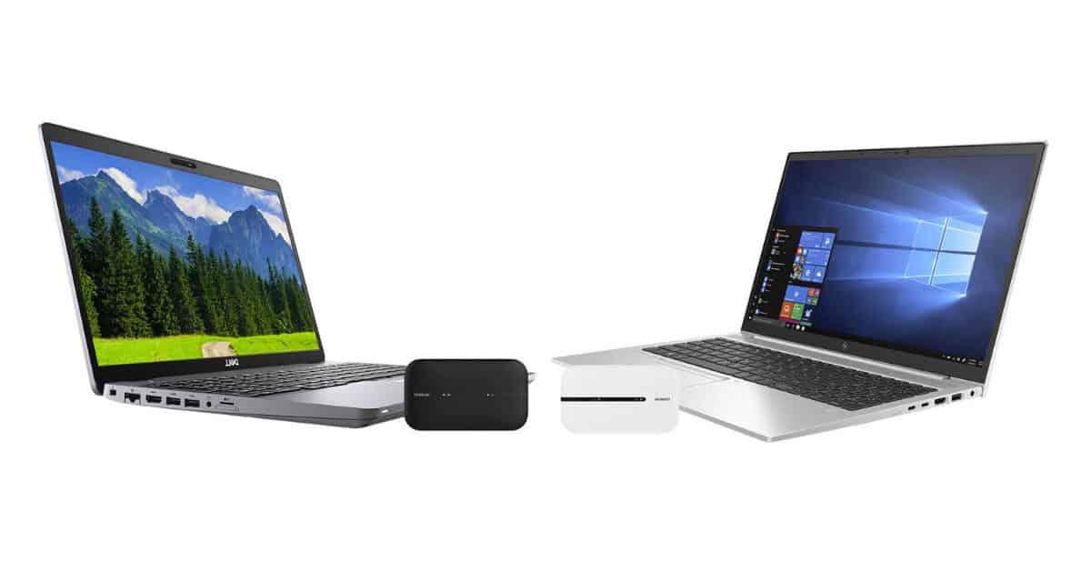 Prenosnik DELL Latitude 5510 in prenosnik HP 850 G7 + LTE dostopna točka Huawei E5576-320