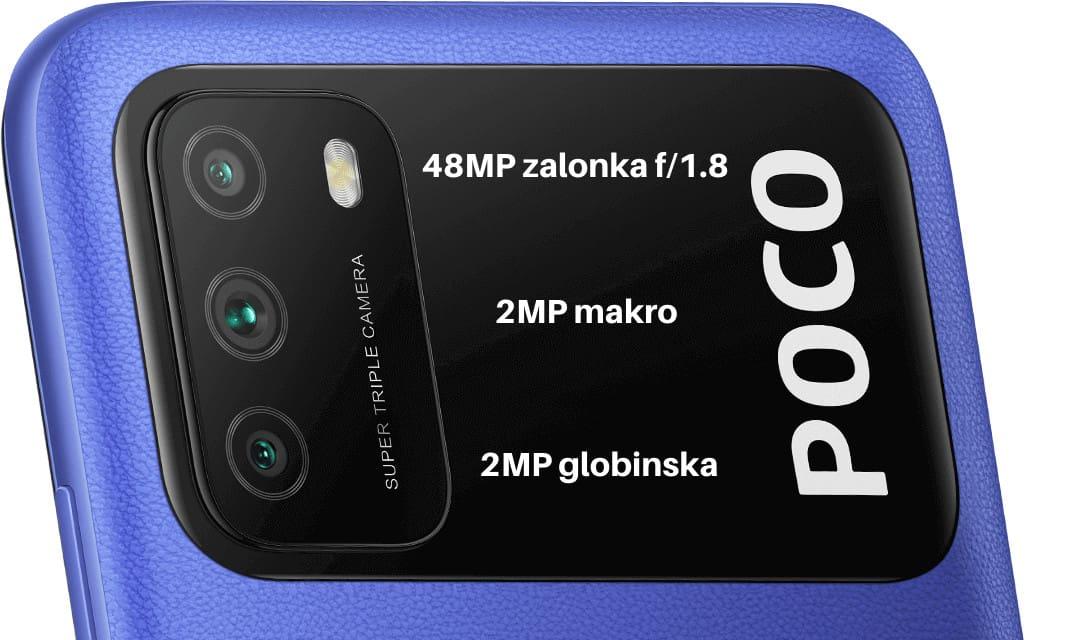 Xiaomi poco m3 45MP foroaparat, 2MP makro, 2MP globinska