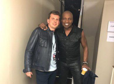 Haddaway в городе Cork с букинг-агентом BnMusic перед выступлением на концерте
