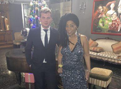 Шейла Бонник в Киеве на новогодней вечеринке