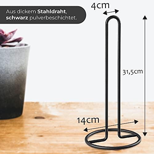KADAX Küchenrollenhalter schwarz, stehend - 3