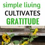 simple living cultivates gratitude