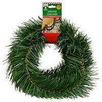 Merry Christmas Soft Pine Garland Celebrate a Holiday Decor 15 feet Decorative Green Outdoor or Indoor Use Non lit
