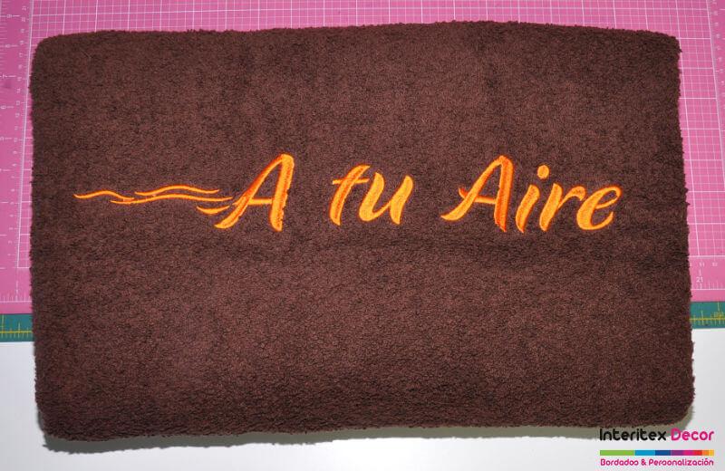 Toallas bordadas Centro Estética A tu Aire (Las Rozas de Madrid)