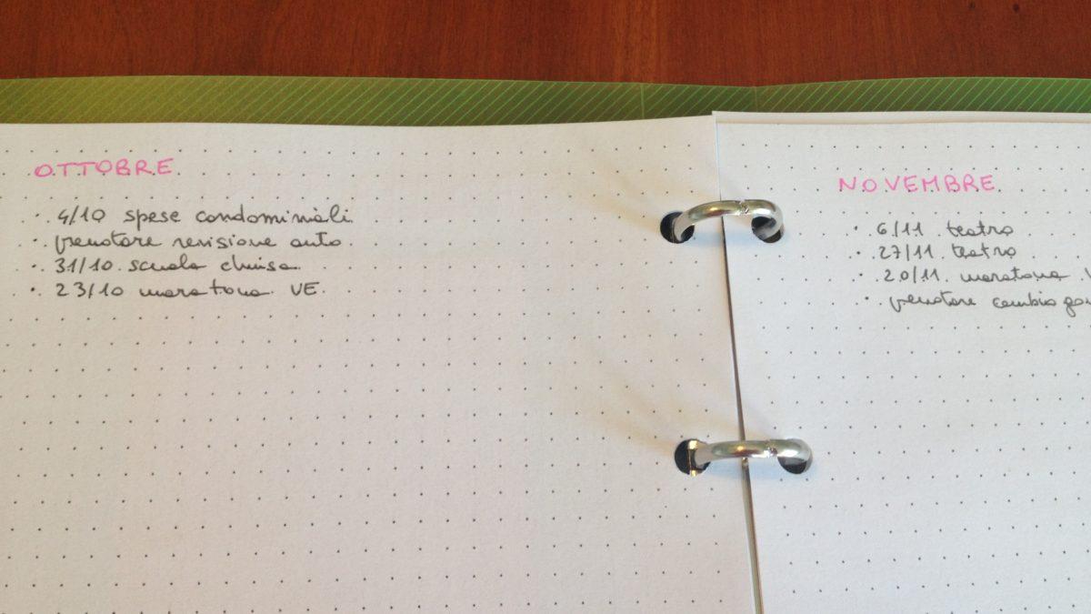 Come pianificare eventi e impegni futuri: il future log