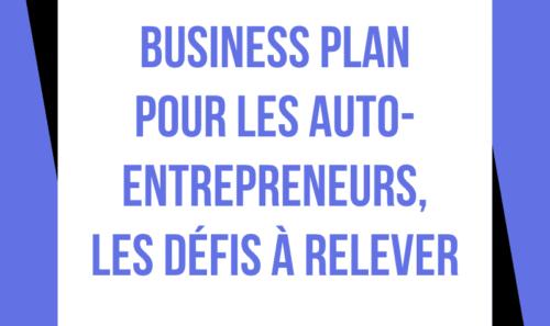 Business Plan pour les auto-entrepreneurs : les défis à relever