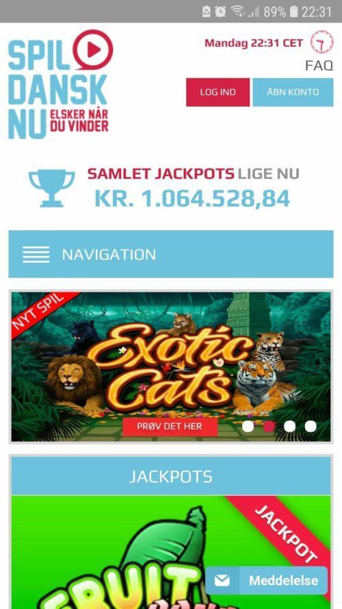 Alle kasinospilene er optimeret til iPhone, Android og andre mobile enheder.