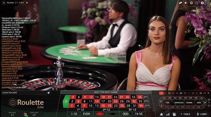 Intercasino live casino er opdelt på to studier: Paris Casino & Cosmopolitan Casino.