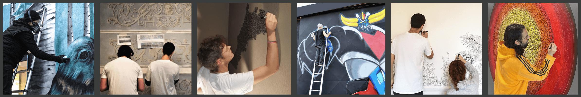 image représente quelques artistes de CATCH ARTS