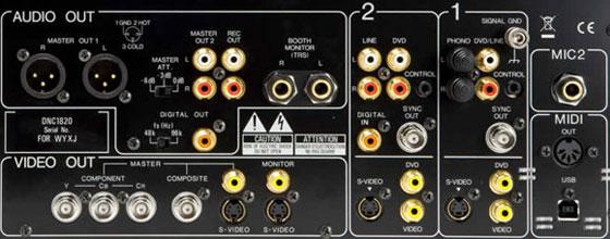 SVM-1000 Back Panel