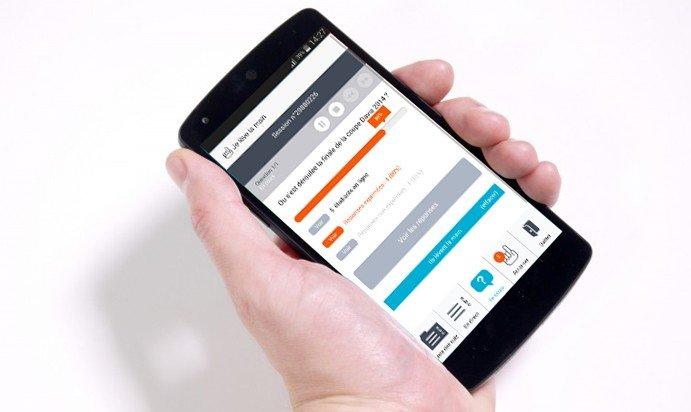 Je Lève La Main sur Android