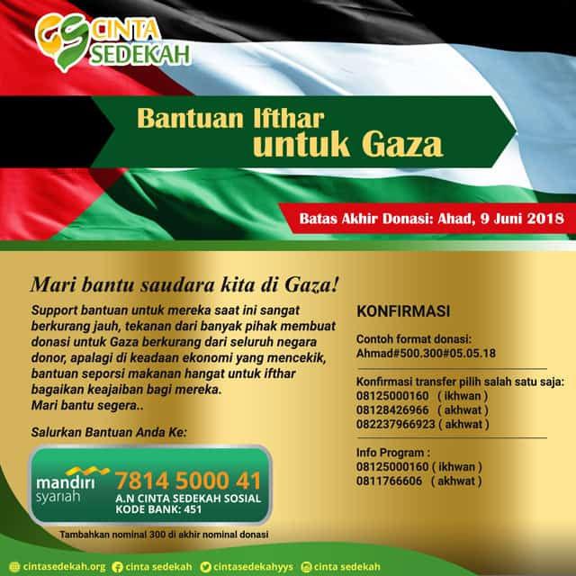 GAZA... IFTHOR DAN HARI RAYA