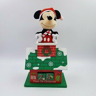 DISNEY Plush Mickey Mouse Top of Wood House Christmas Holiday Advent Calendar.