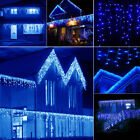10~100FT 96~960 LED Fairy String Icicle Curtain Lights In/Outdoor Christmas Lamp