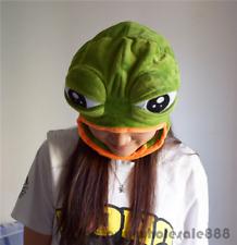Halloween Sad Frog Pepe Costume Warmer Hat Cap Beanie Unisex Mask Adults Kids
