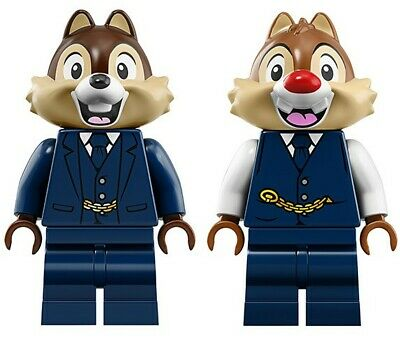 NEW LEGO CHIP and DALE MINIFIG 71044 DISNEY TRAIN & STATION conductor minifigure