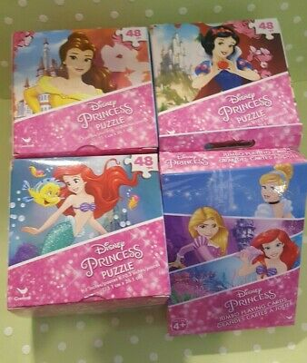 Disney Princess Activity Set Belle Ariel Snow White Puzzle & Jumbo Playing Cards