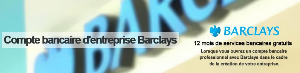 Compte bancaire d'entreprise barclays