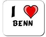 Custom Mouse Pad with first name/surname/nickname I Love Benn