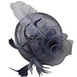 Fascigirl Feather Fascinator Headband Tea Party Derby Pillbox Hat Hair Bridal Hairband