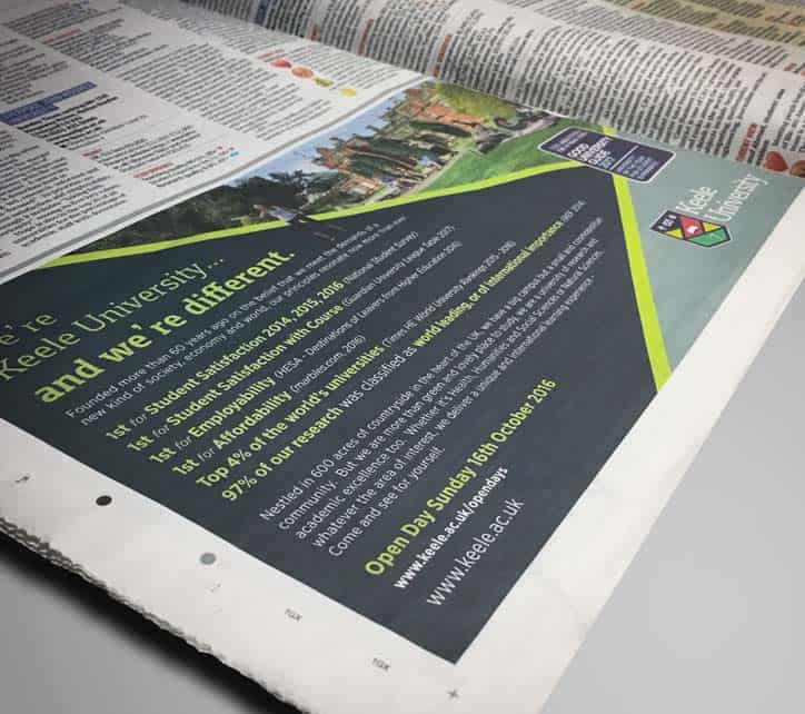 Keele Print adrvertising - Design/Print Management