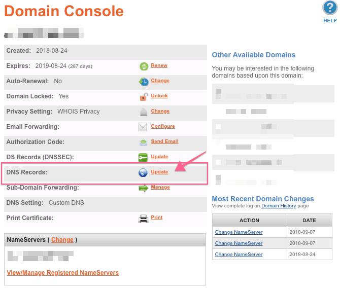 cập nhật DNS