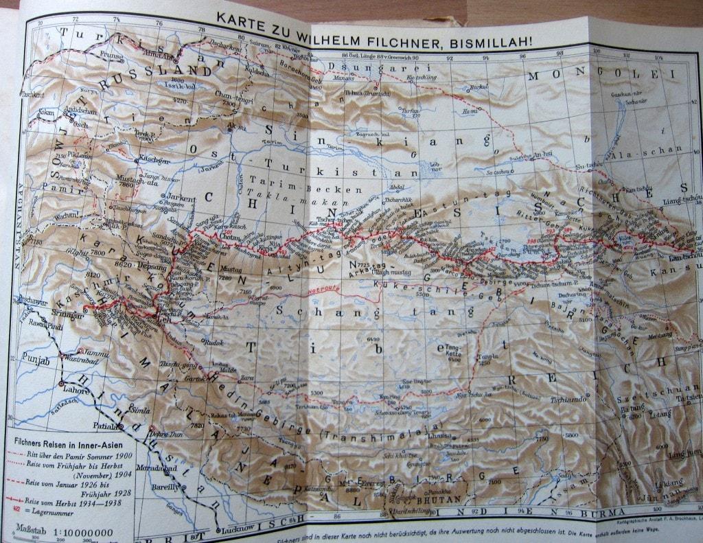 Karte der Filchner-Expedition