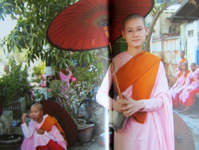 Buddhistische Nonnen - Reisen in Burma