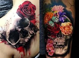 tatuaje-de-calavera-con-flores