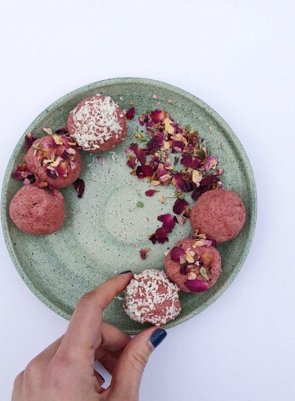 Raspberry Coconut Treats (Vegan, Keto-friendly)