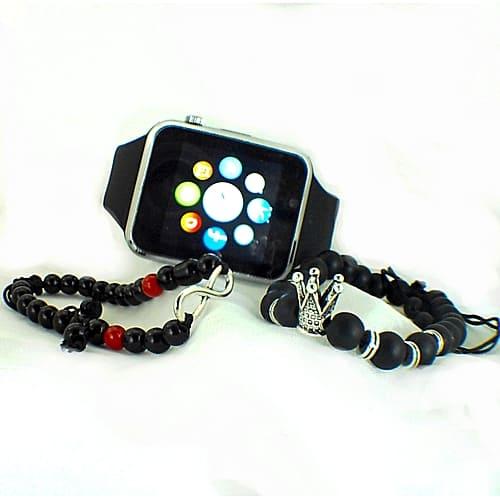 GT GT08 Smart Watch Montre Connectée avec carte sim - SILVER  + 2 Bracelets Elegance