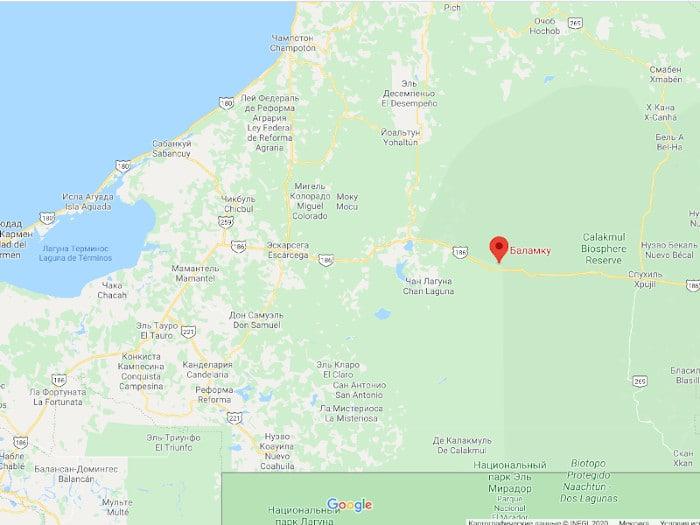 Баламку на карте гугл