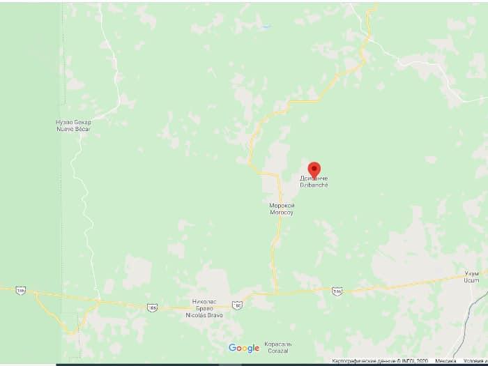 Цибанче на карте гугл